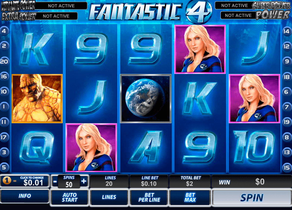 fantastic four playtech casinospil online