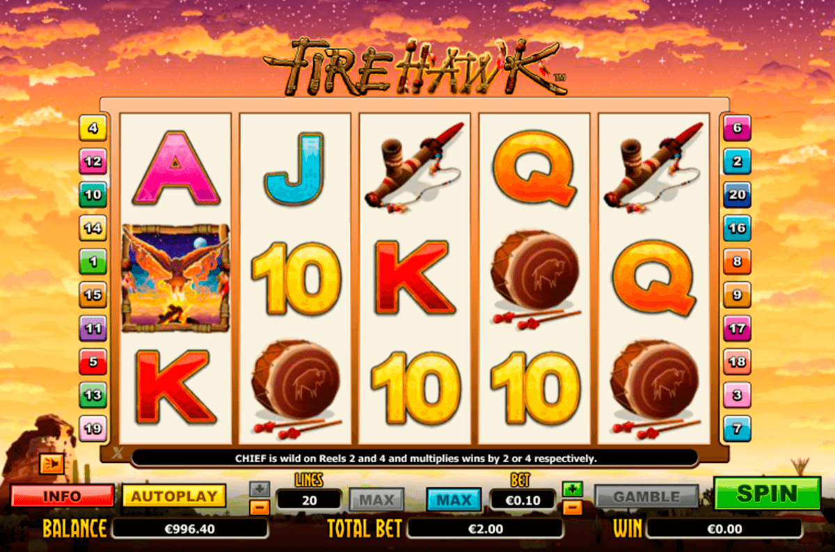fire hawk nextgen gaming casinospil online