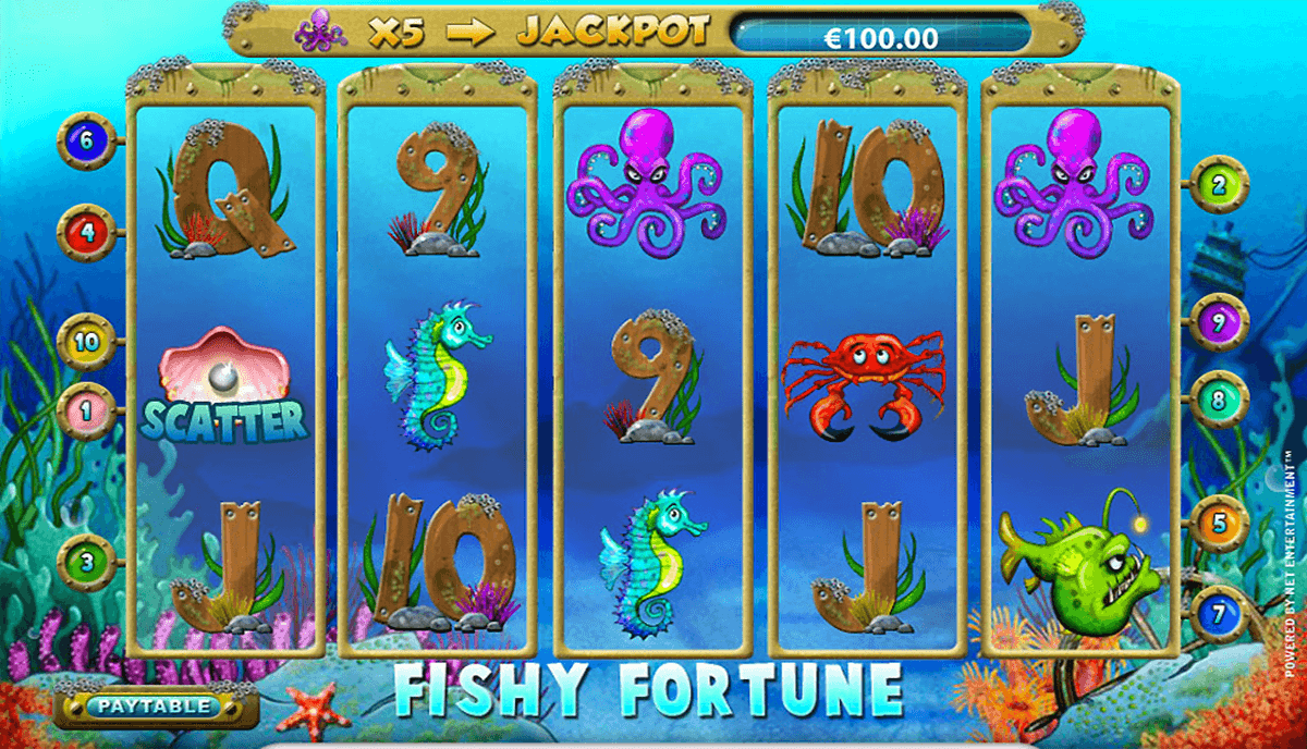 fishy fortune netent casinospil online