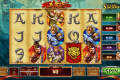 five tiger generals playtech casinospil online