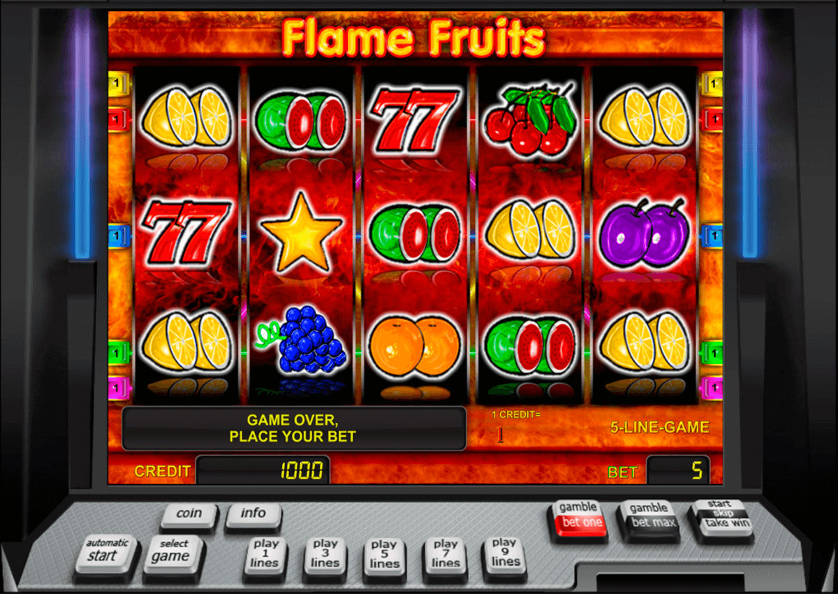 flame fruits novomatic casinospil online