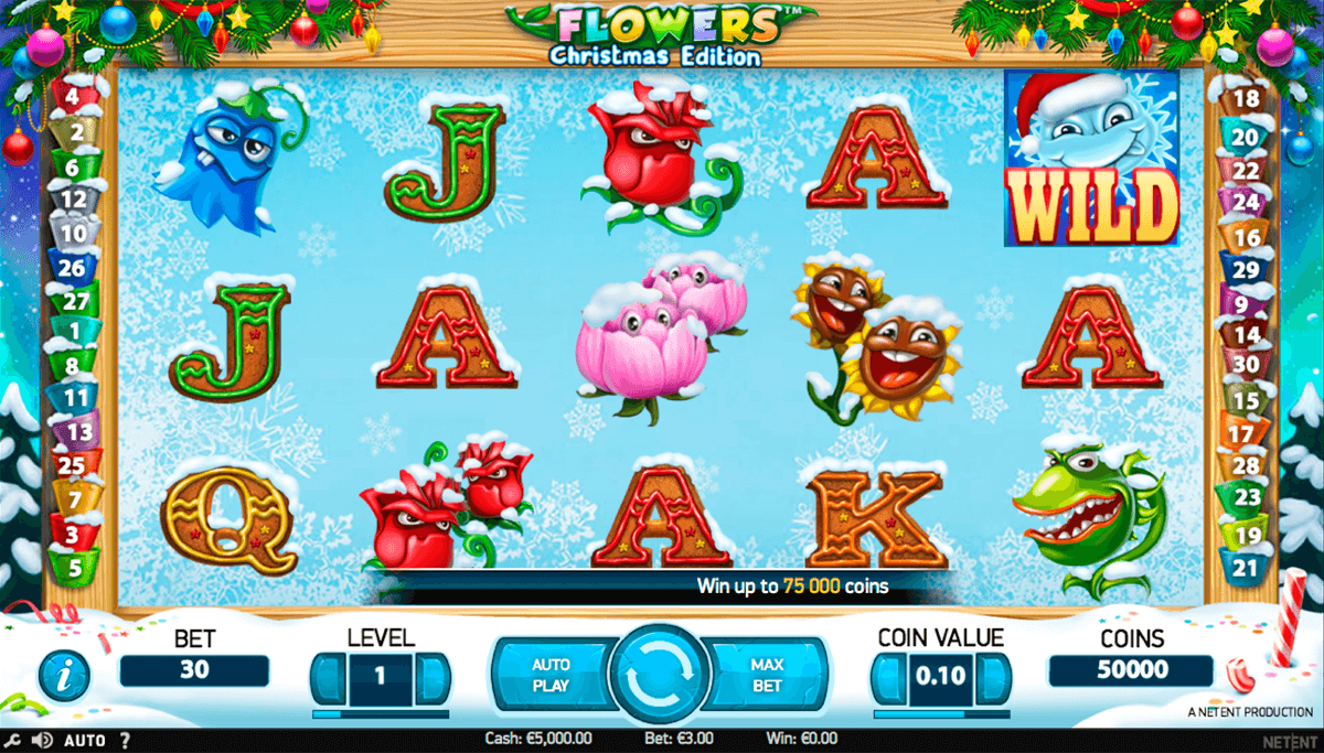 flowers christmas edition netent casinospil online