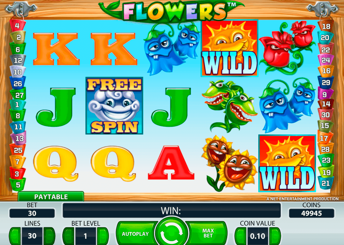 flowers netent casinospil online