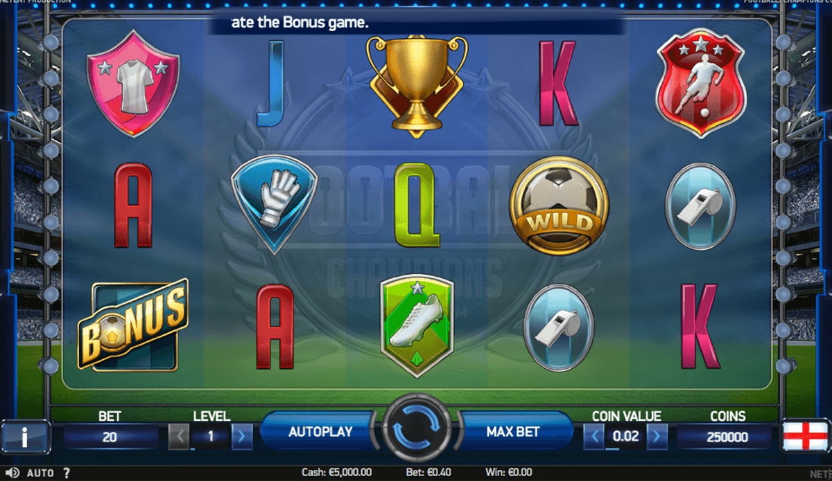 football champions cup netent casinospil online