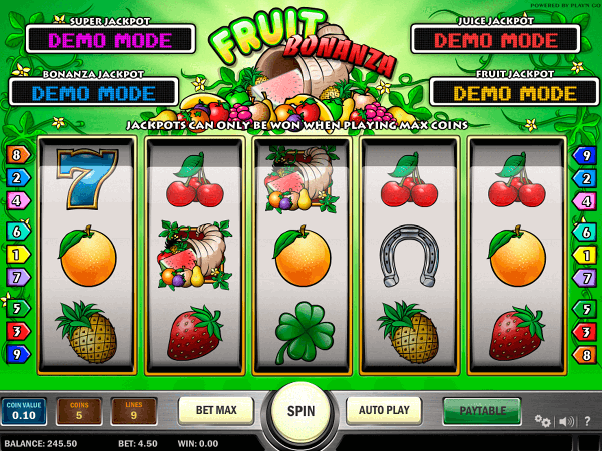 fruit bonanza playn go casinospil online