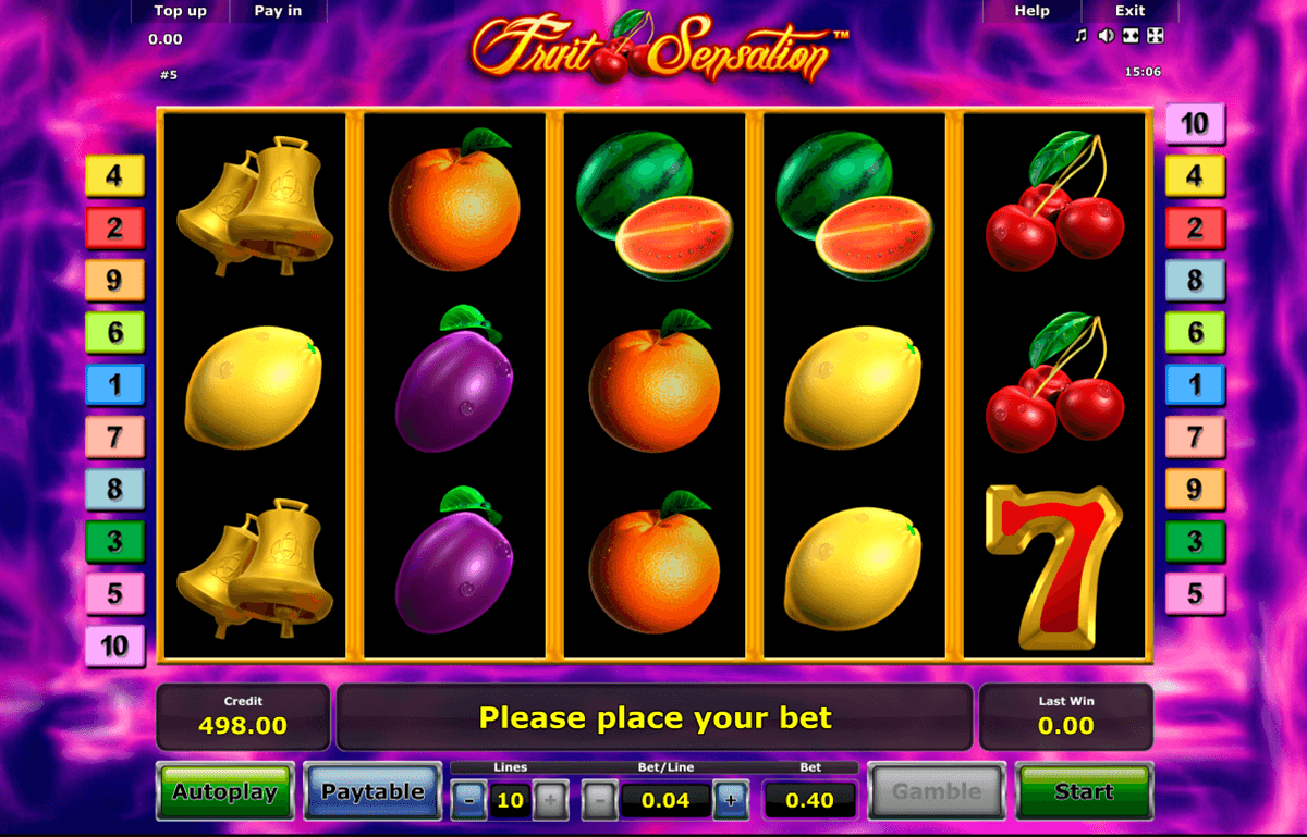 fruit sensation novomatic casinospil online