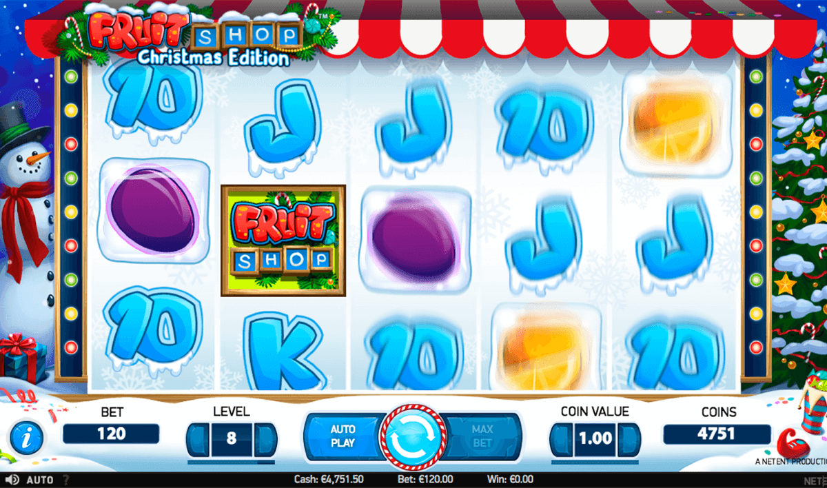 fruit shop christmas edition netent casinospil online