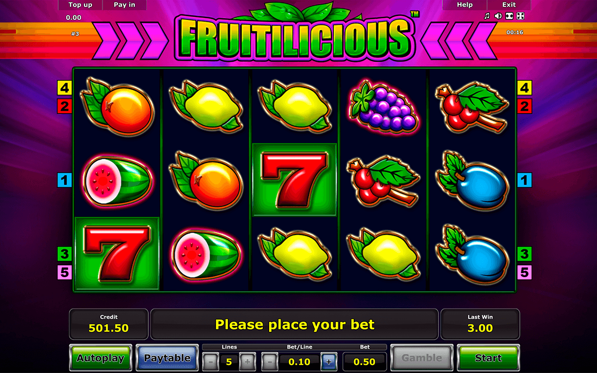 fruitilicious novomatic casinospil online