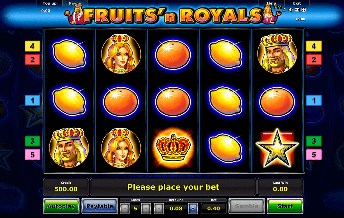 fruitsn royals novomatic casinospil online