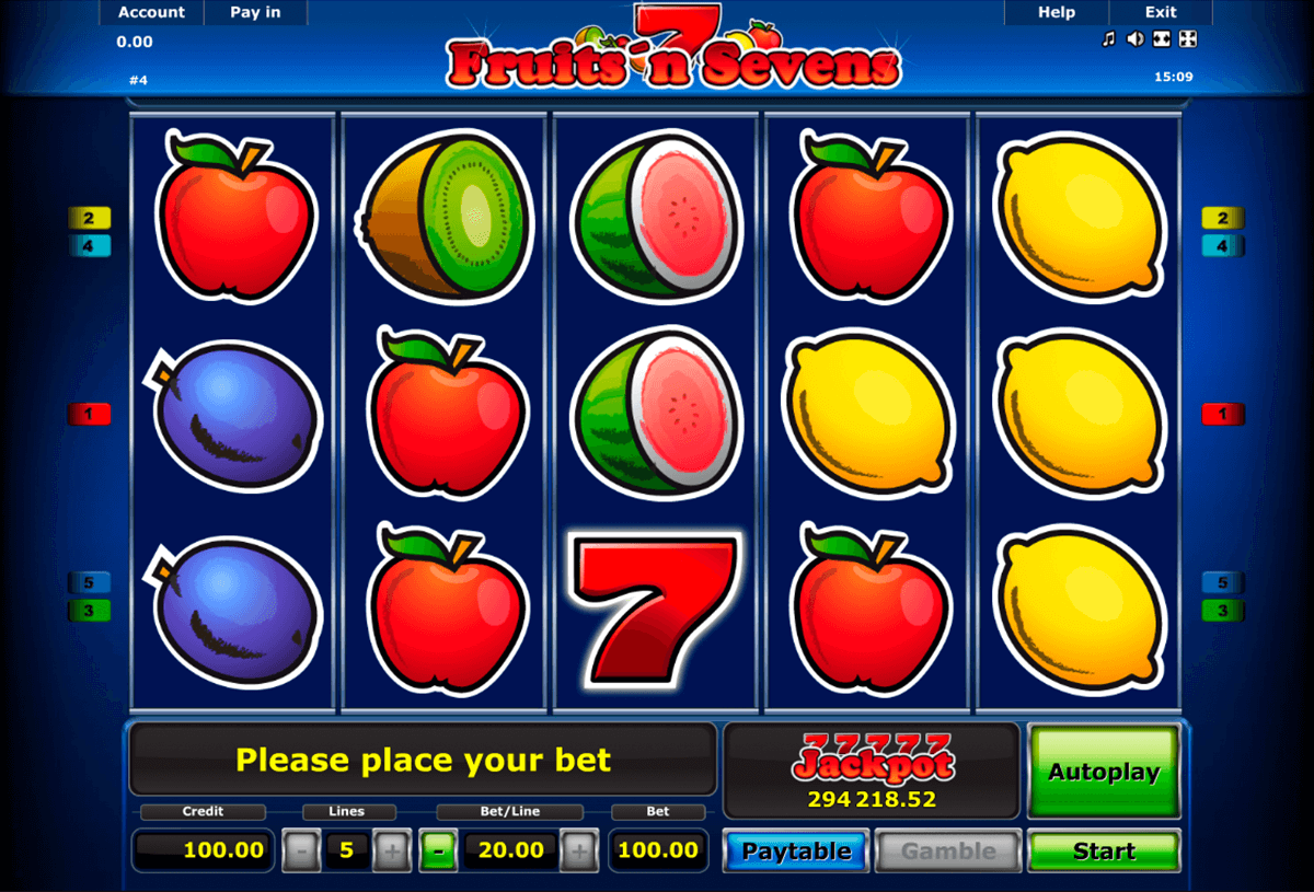 fruitsn sevens novomatic casinospil online