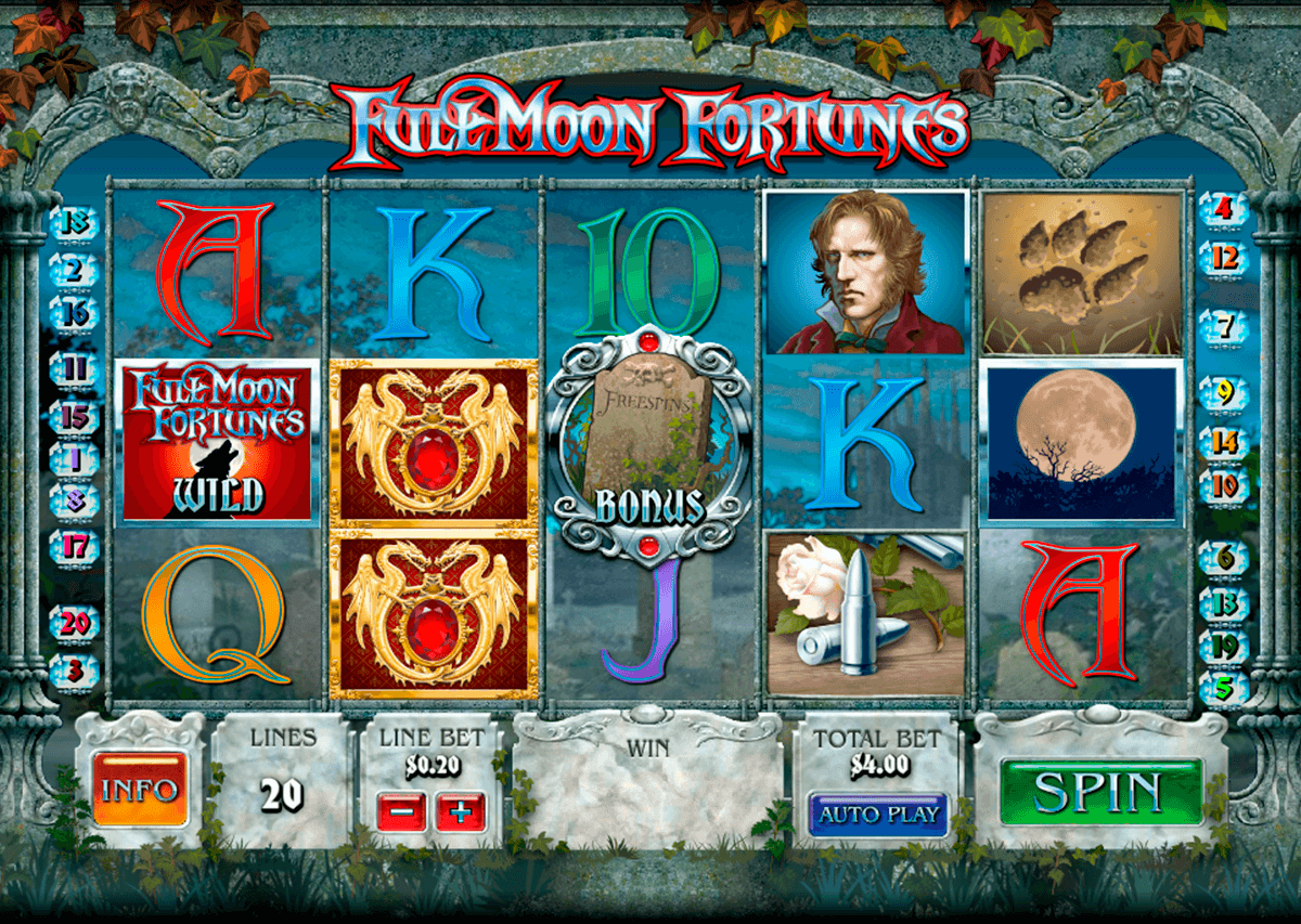 full moon fortunes playtech casinospil online