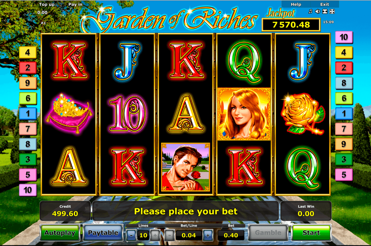 garden of riches novomatic casinospil online