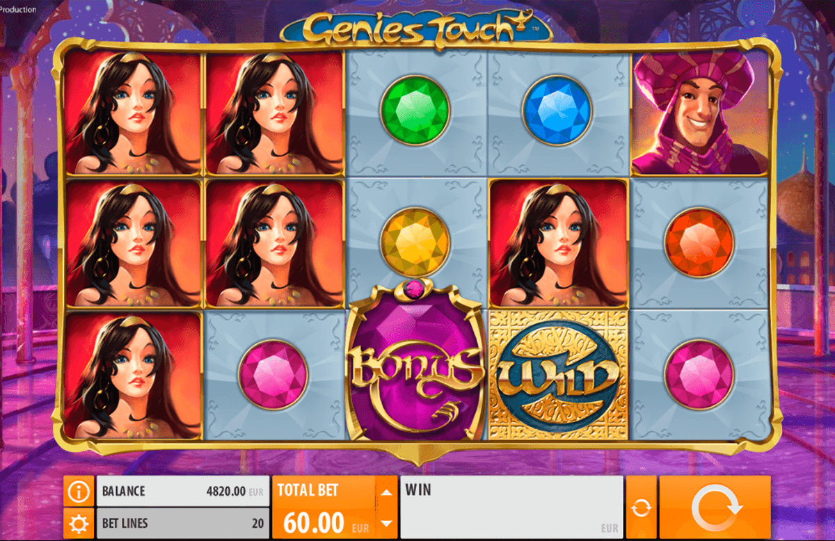 genies touch quickspin casinospil online