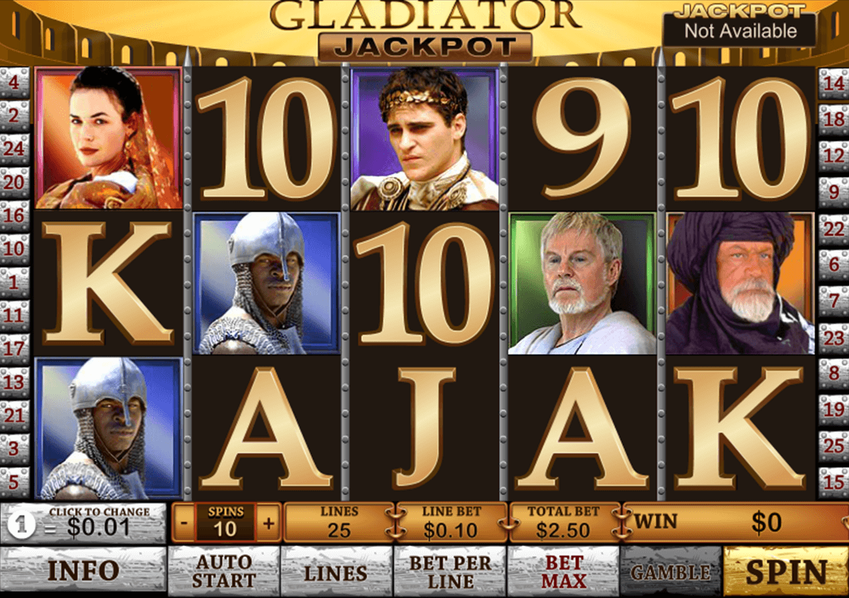 gladiator jackpot playtech casinospil online