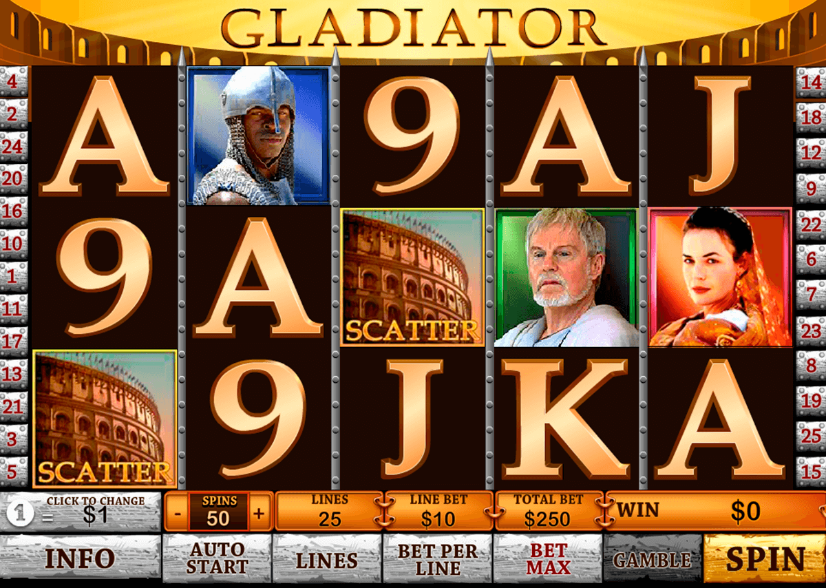 gladiator playtech casinospil online