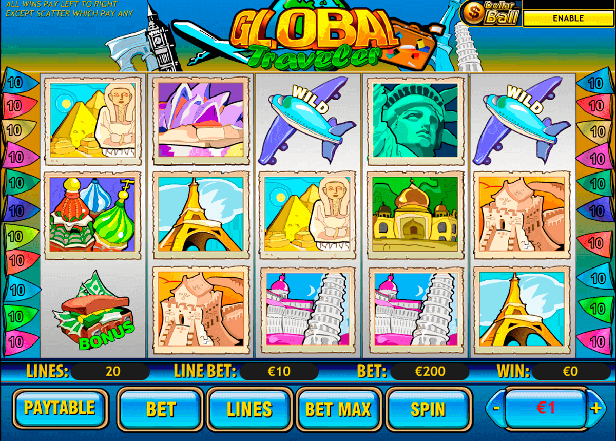 global traveler playtech casinospil online