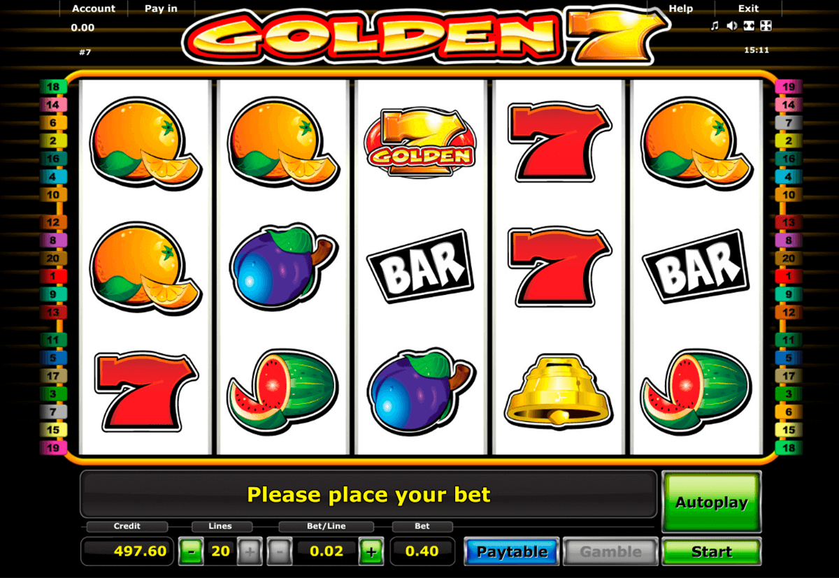 golden 7 novomatic casinospil online