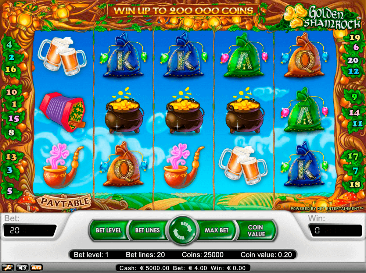golden shamrock netent casinospil online