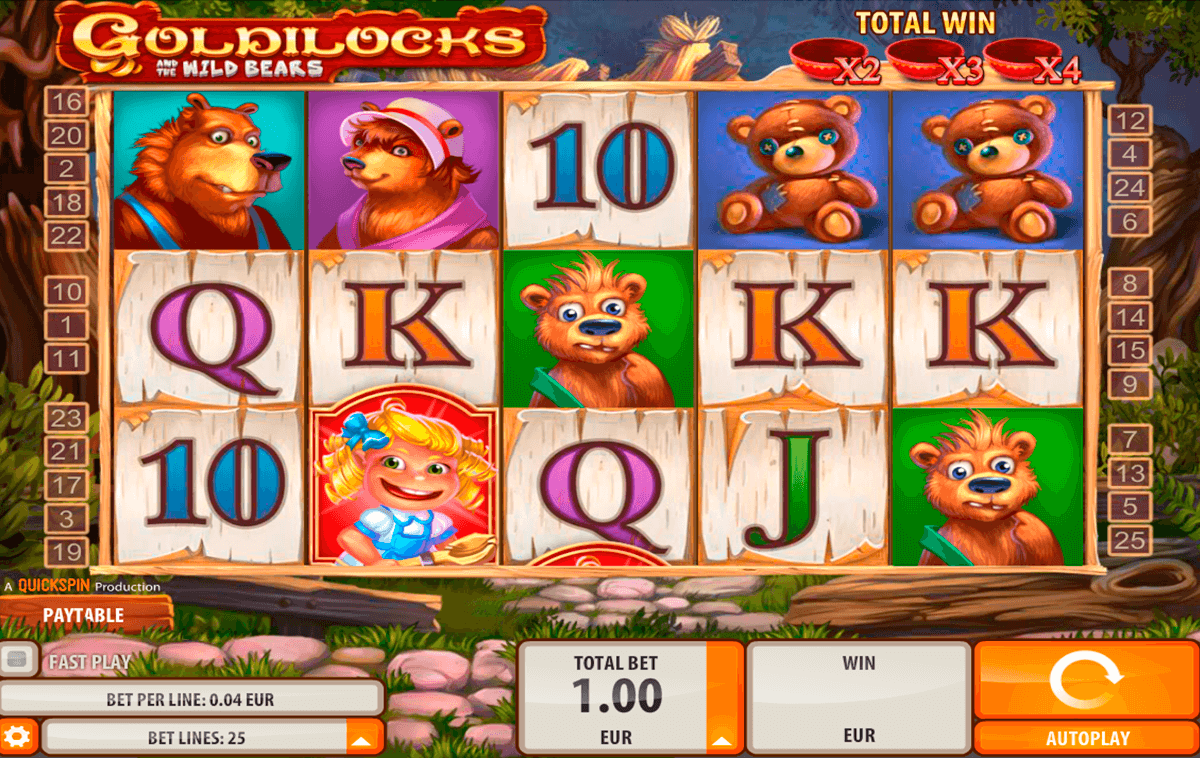 goldilocks quickspin casinospil online