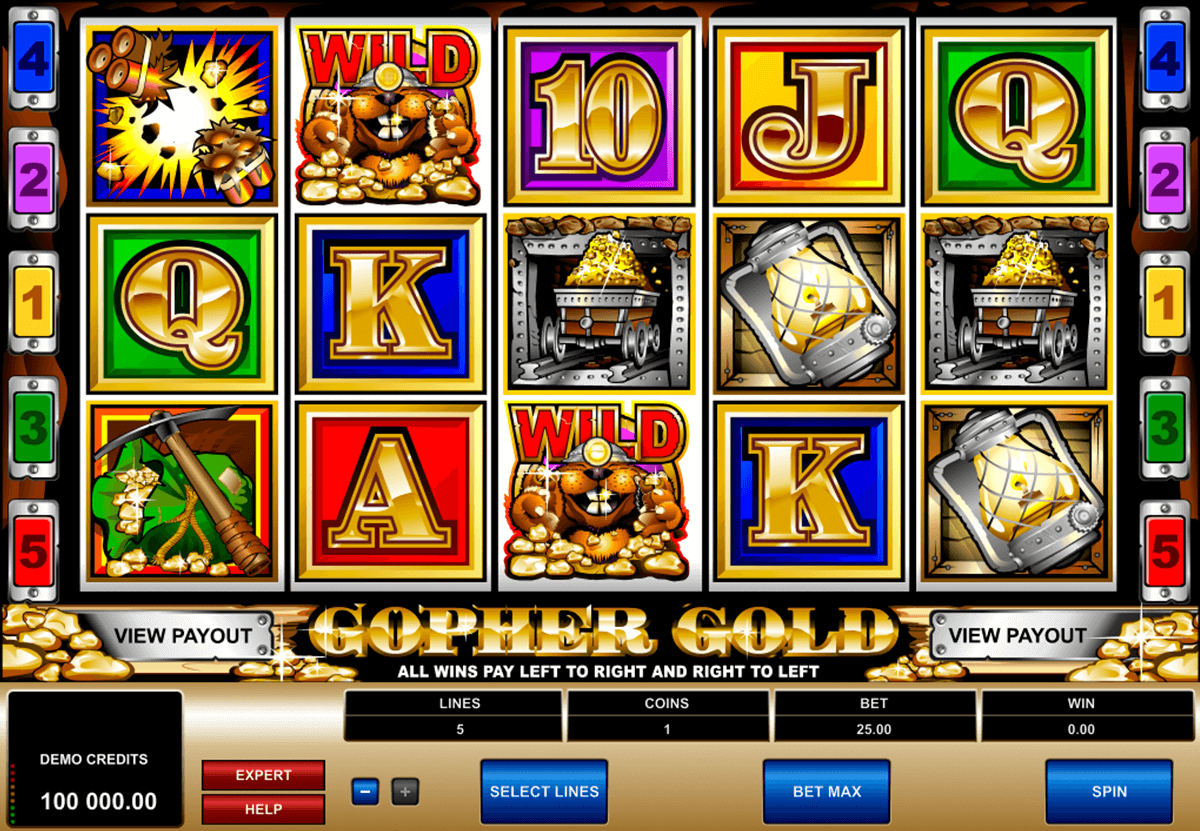gopher gold microgaming casinospil online