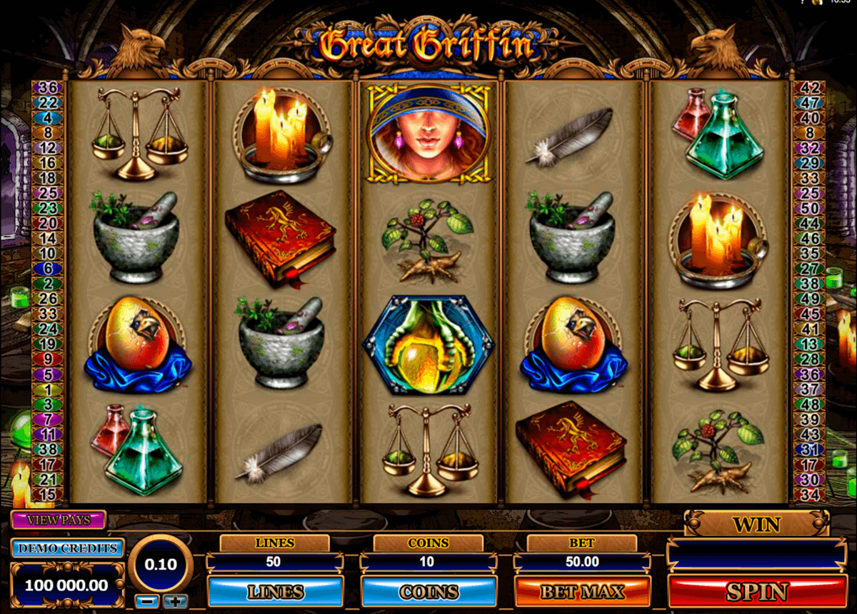 great griffin microgaming casinospil online