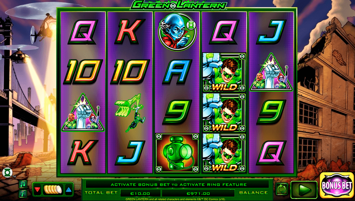green lantern nextgen gaming casinospil online