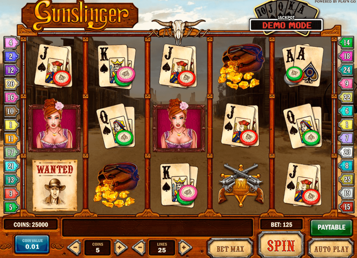 gunslinger playn go casinospil online