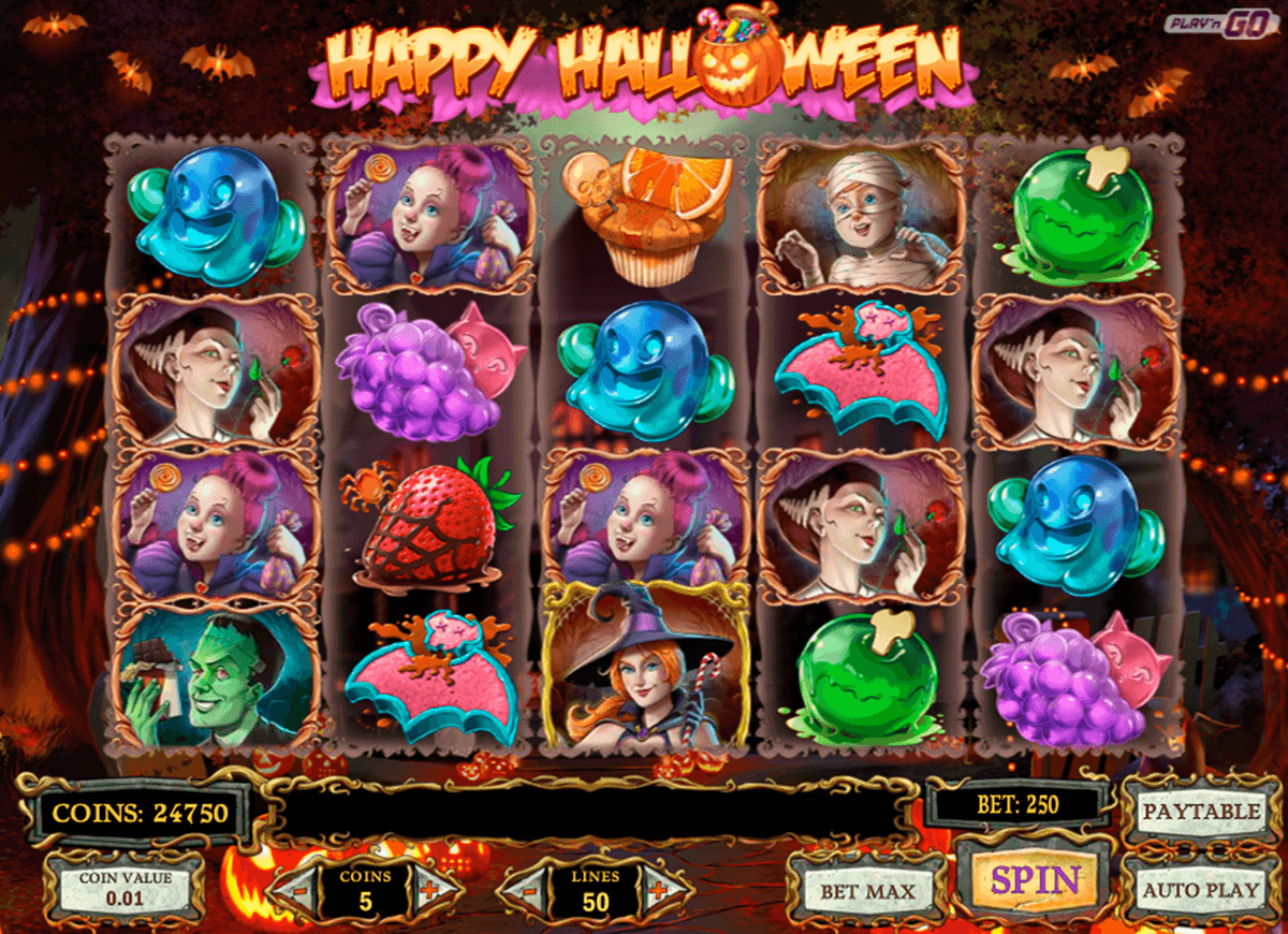 happy halloween playn go casinospil online