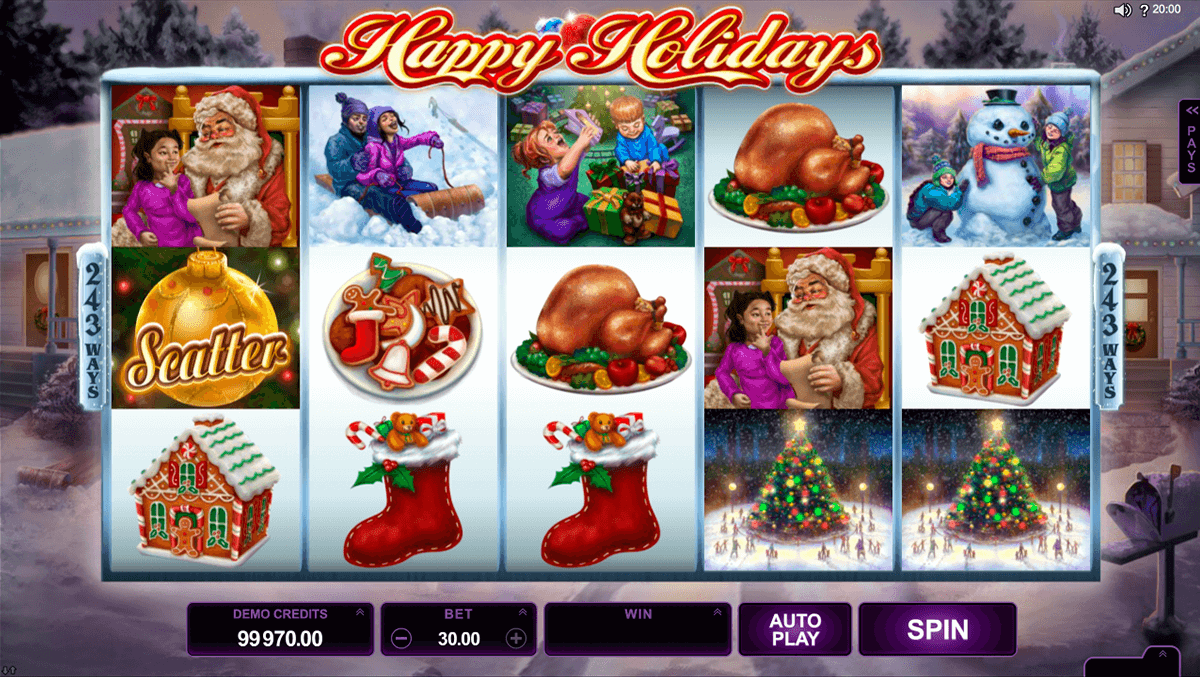 happy holidays microgaming casinospil online