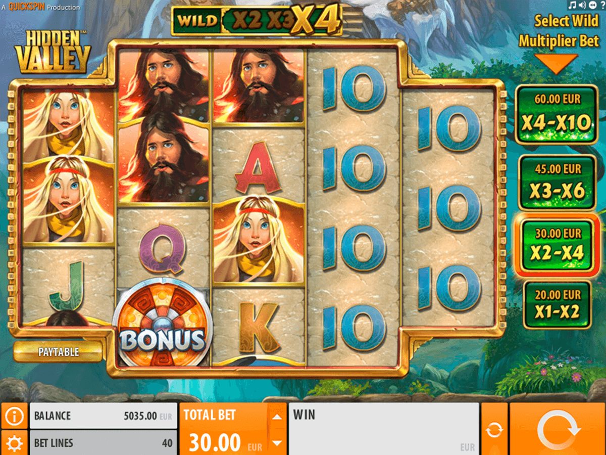 hidden valley quickspin casinospil online