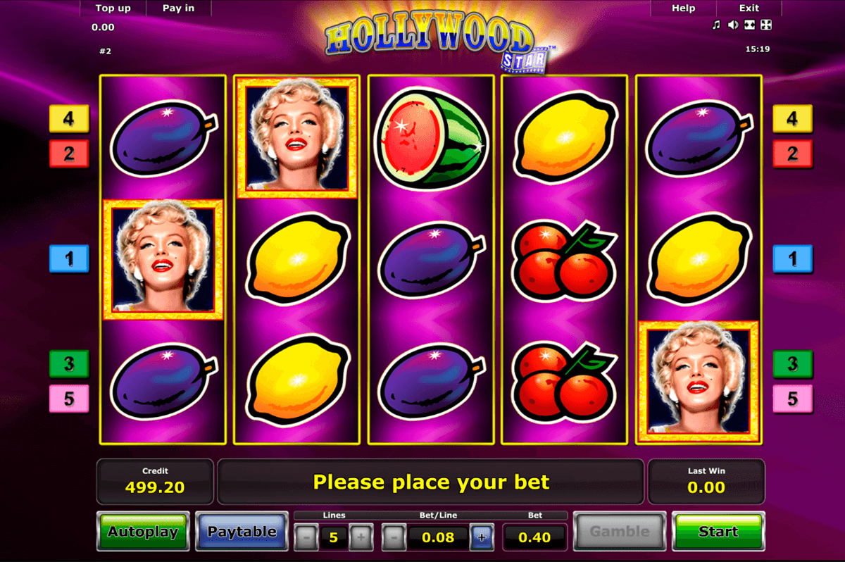 hollywood star novomatic casinospil online