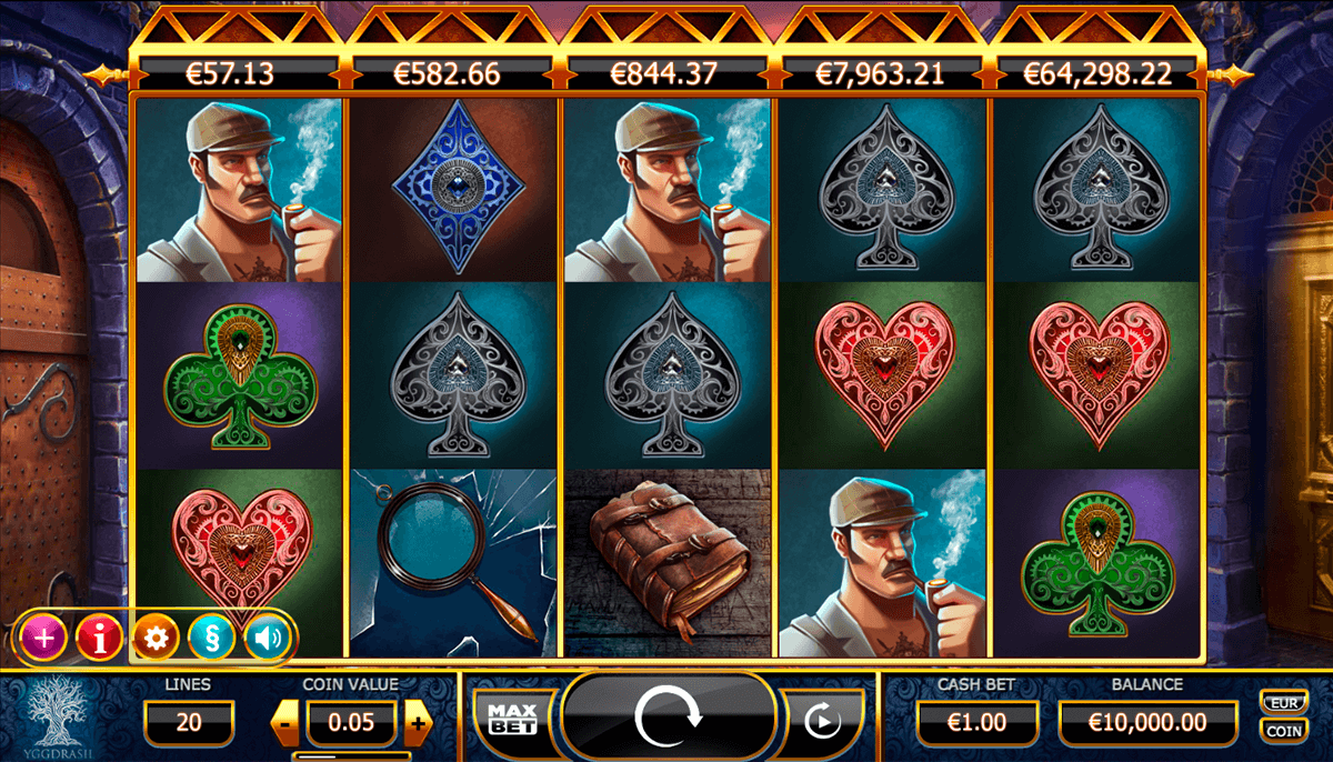holmes and the stolen stones casinospil online