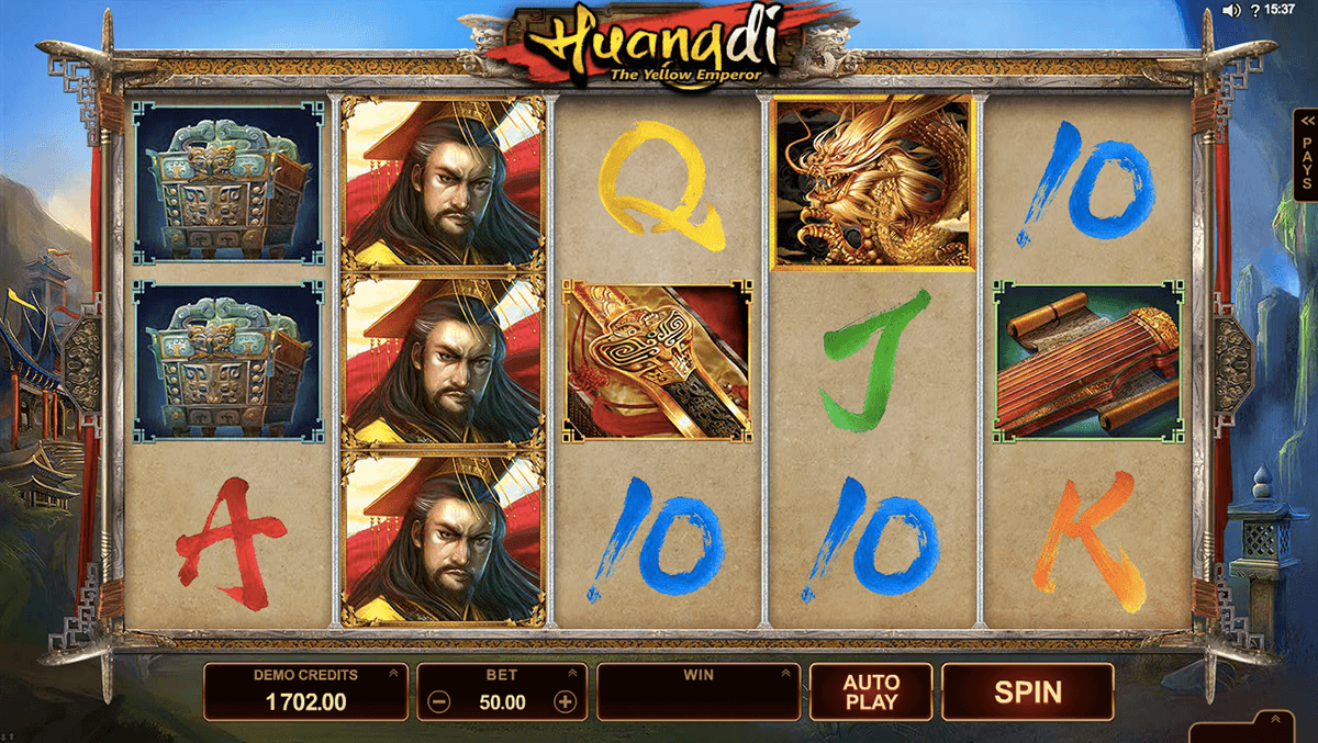 huangdi the yellow emperor microgaming casinospil online