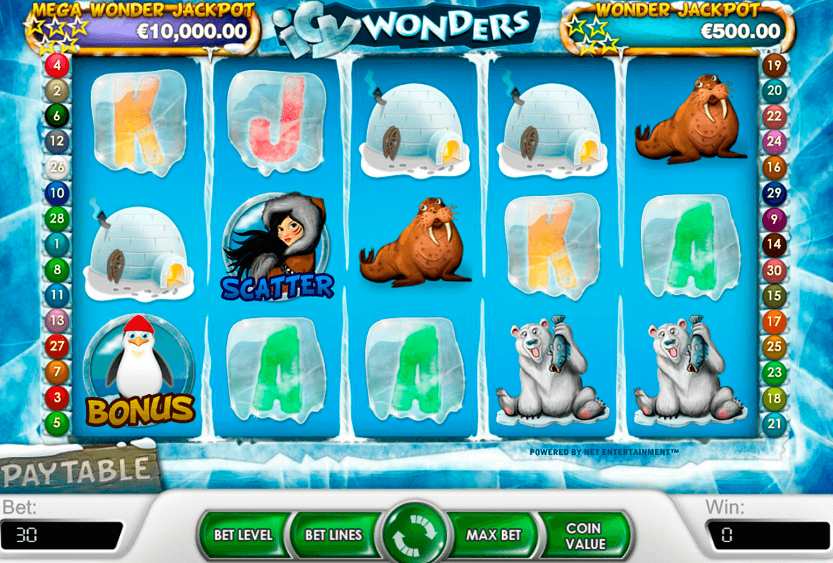 icy wonders netent casinospil online