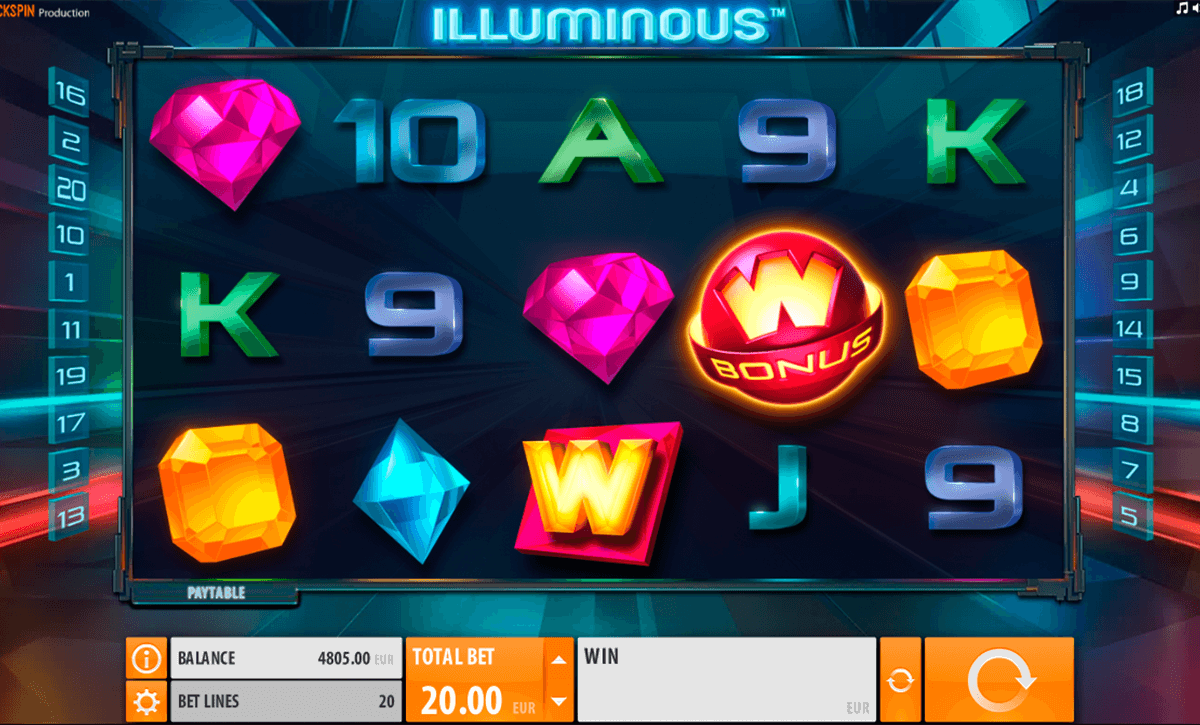 illuminous quickspin casinospil online