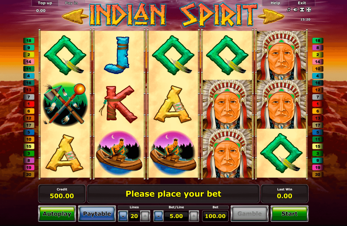 indian spirit novomatic casinospil online