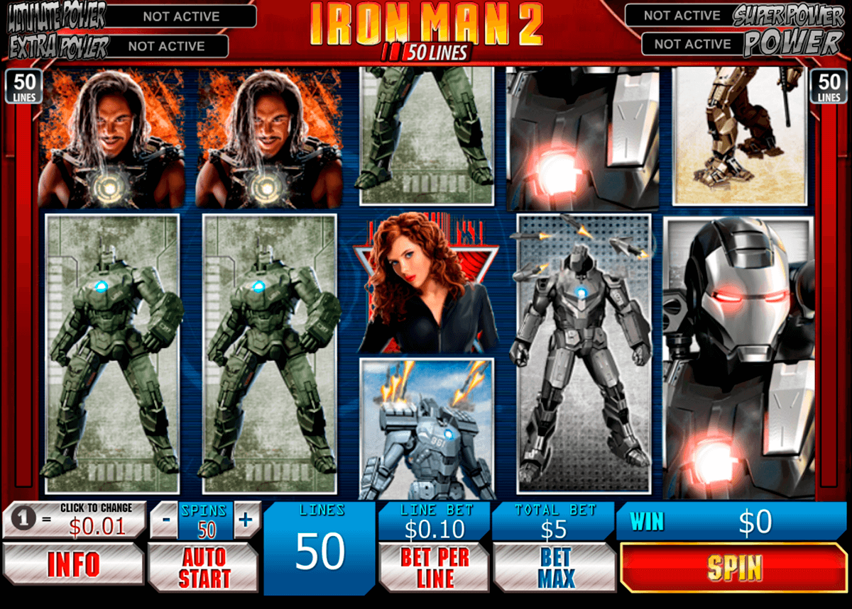 iron man 2 50 lines playtech casinospil online
