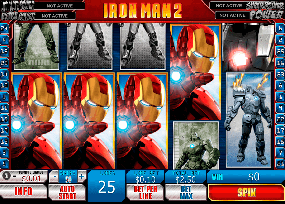 iron man 2 playtech casinospil online