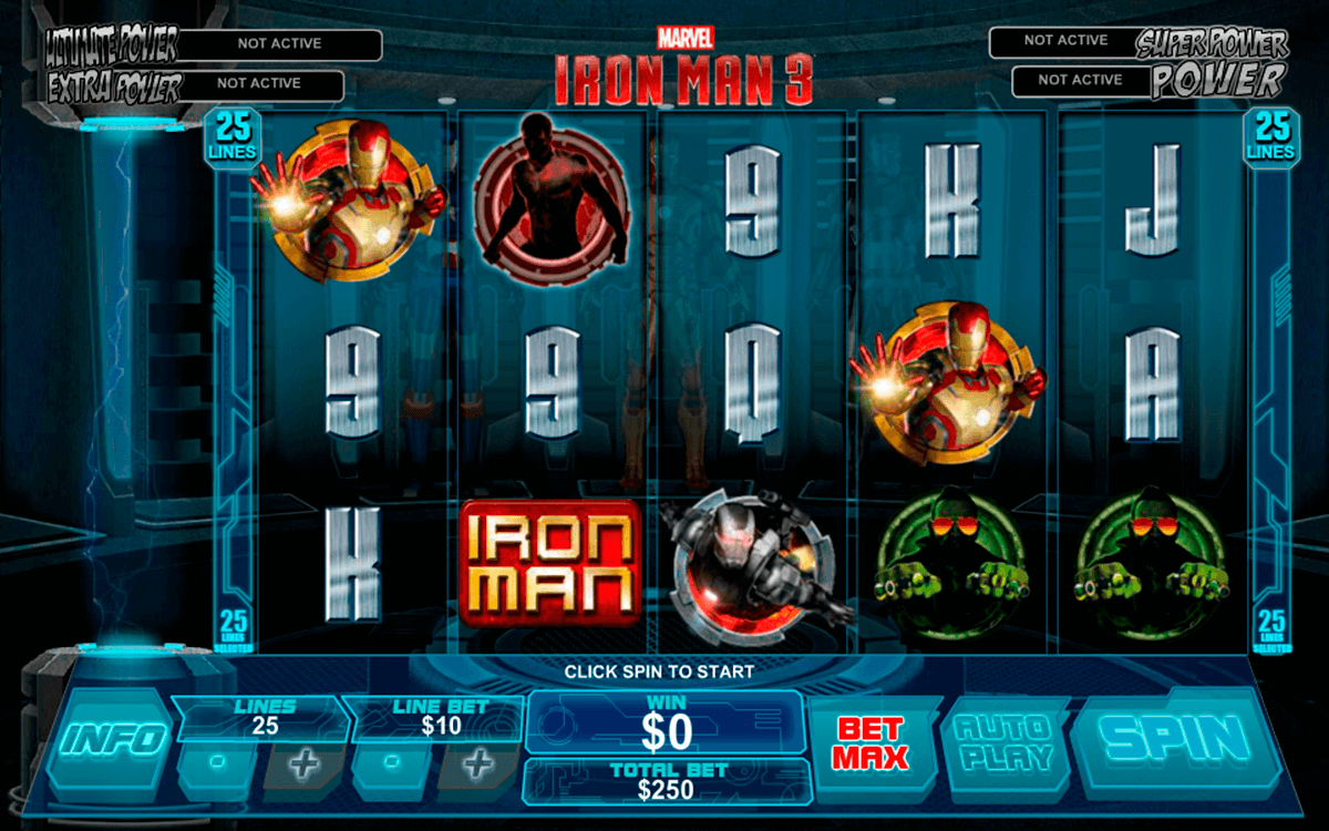 iron man 3 playtech casinospil online