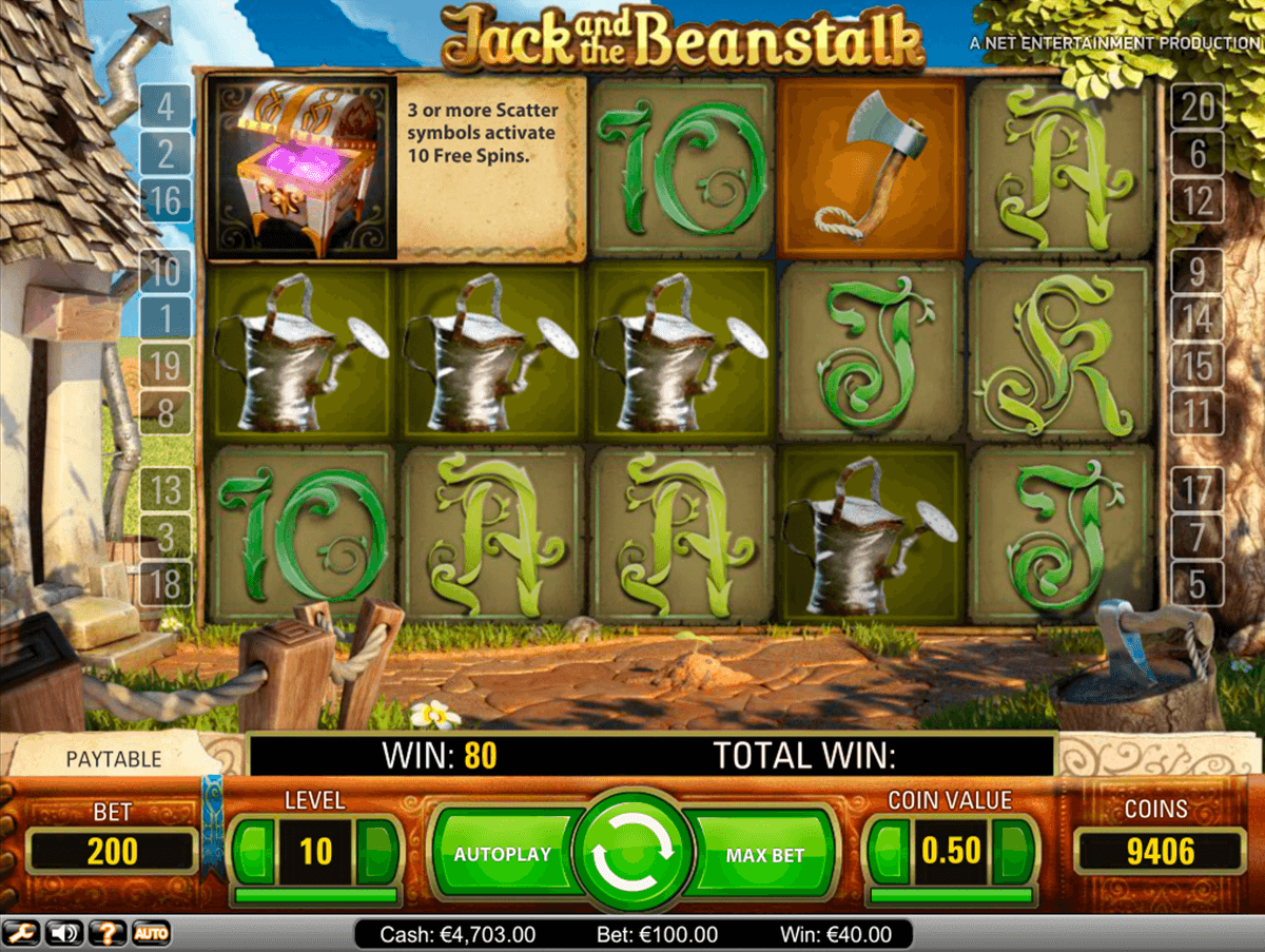 jack and the beanstalk netent casinospil online