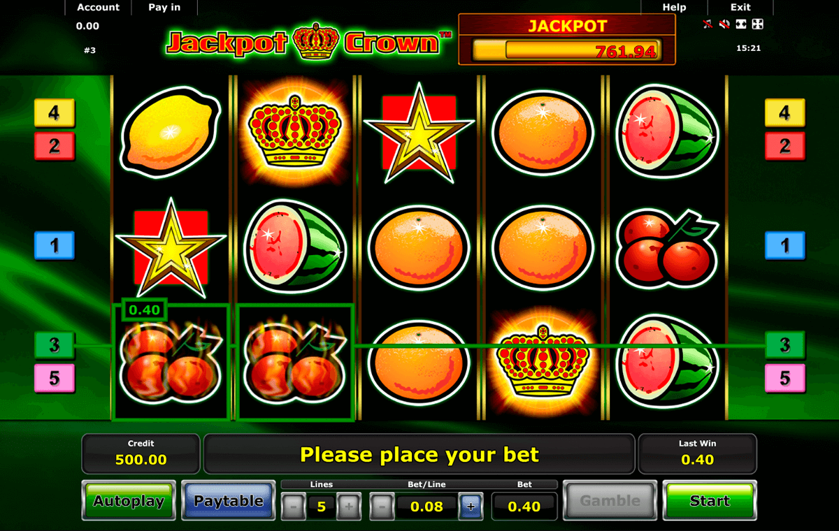 jackpot crown novomatic casinospil online