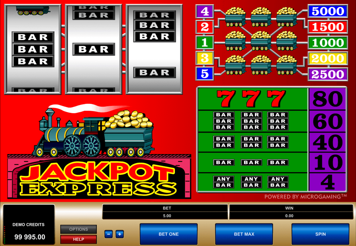 jackpot express microgaming casinospil online
