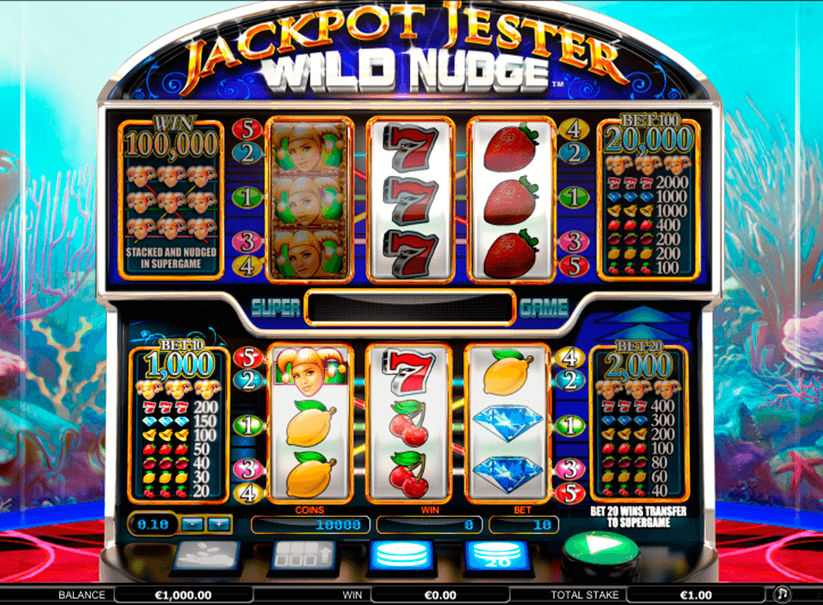 jackpot jester wild nudge nextgen gaming casinospil online