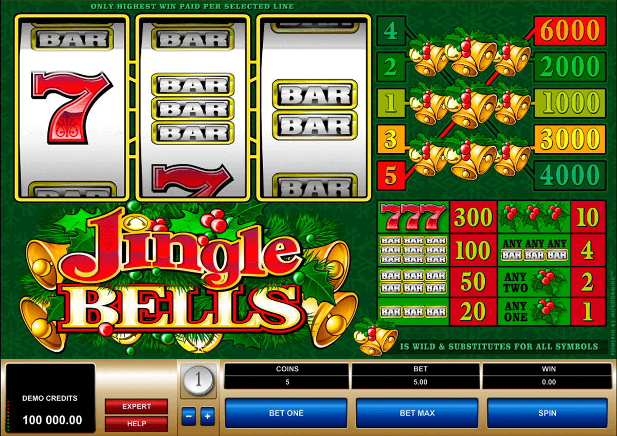 jingle bells microgaming casinospil online