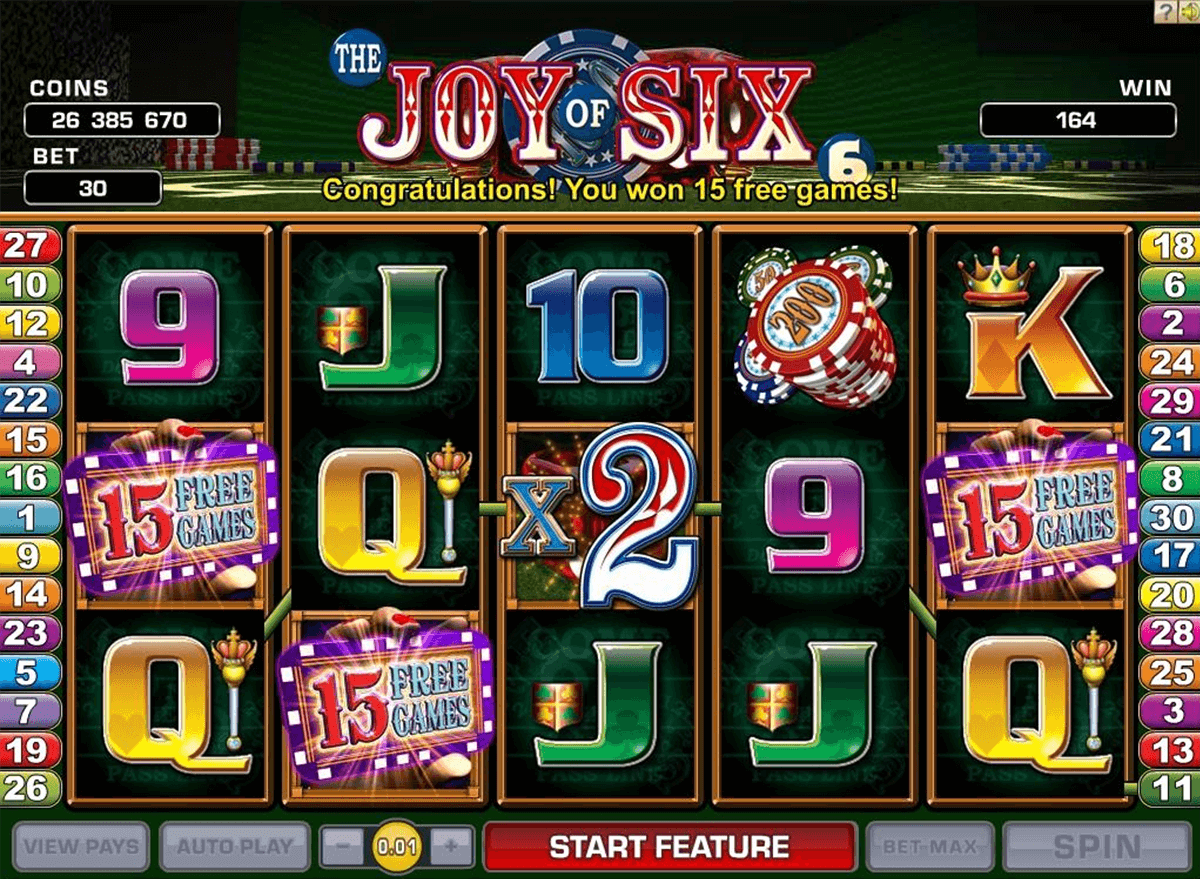 joy of six microgaming casinospil online