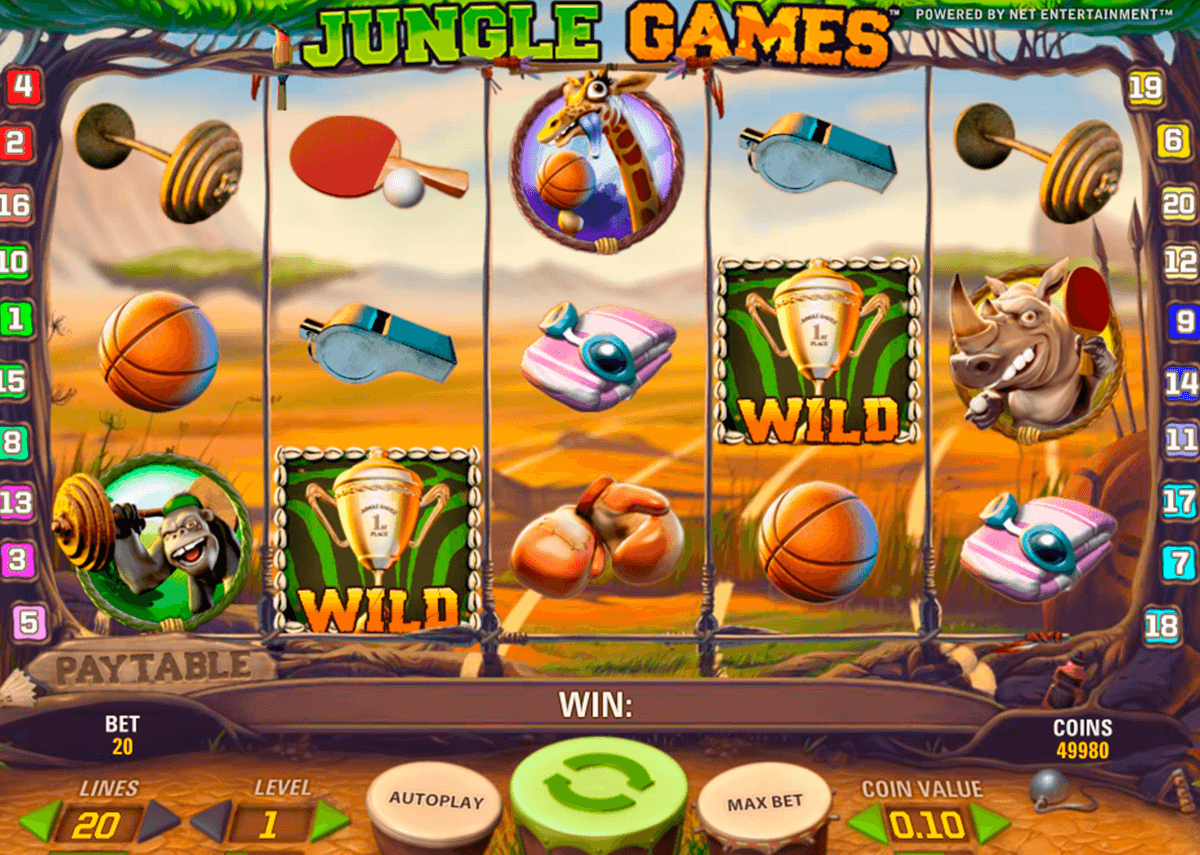 jungle games netent casinospil online