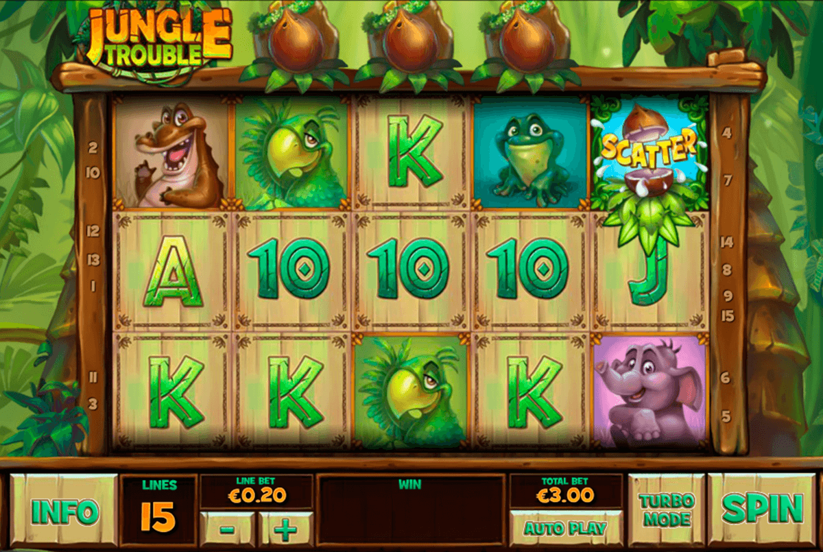 jungle trouble playtech casinospil online