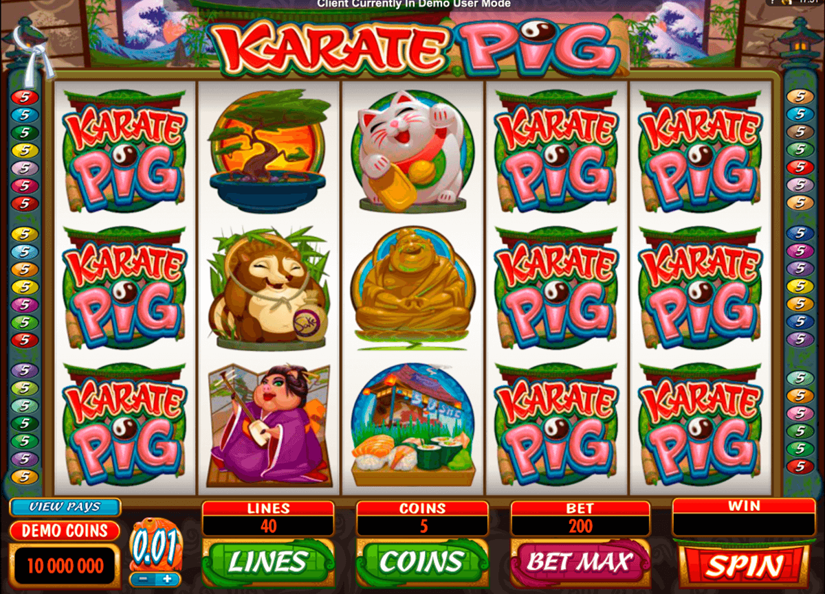 karate pig microgaming casinospil online