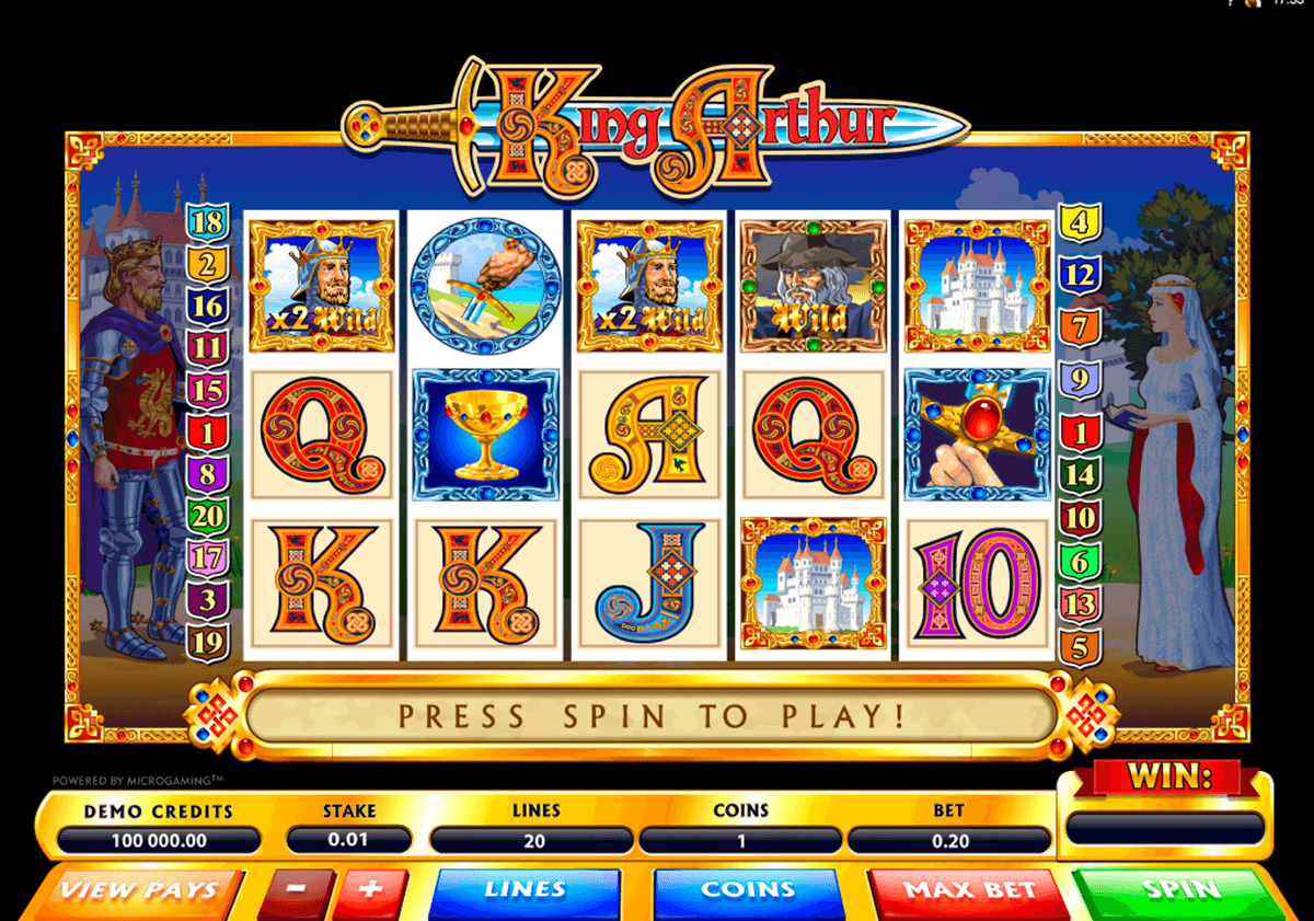 king arthur microgaming casinospil online