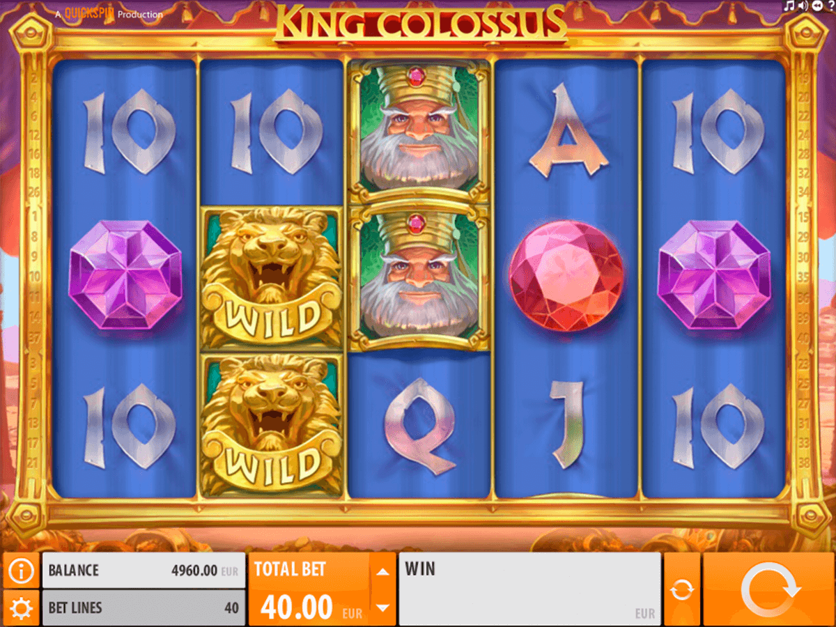 king colossus quickspin casinospil online